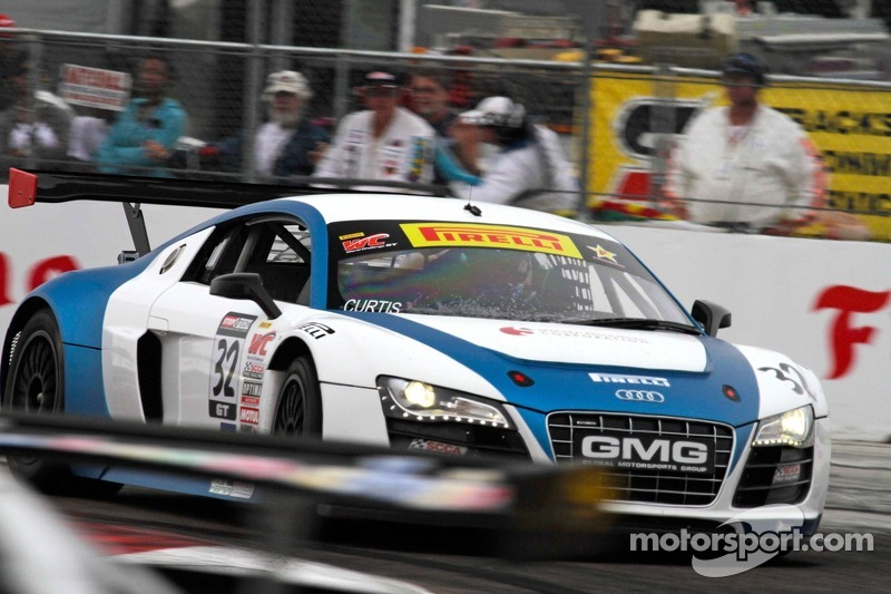 Bret Curtiss, Global Motorsports Group/Spectra Resources/United Steel Audi R8 & Duncan Ende, Global Motorsports Group/STANDD.org/Merchant Services Audi R8