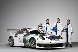 Richard Lietz, Marc Lieb and Romain Dumas with the Porsche 911 RSR