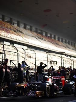 Scuderia Toro Rosso STR8 awaits scrutineering