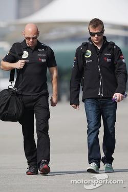 Kimi Raikkonen, Lotus F1 Team with Mark Arnall, Personal Trainer