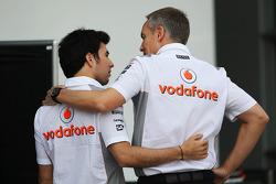 Sergio Perez, McLaren with Martin Whitmarsh, McLaren Chief Executive Officer
