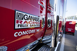 Ganassi Racing hauler detail