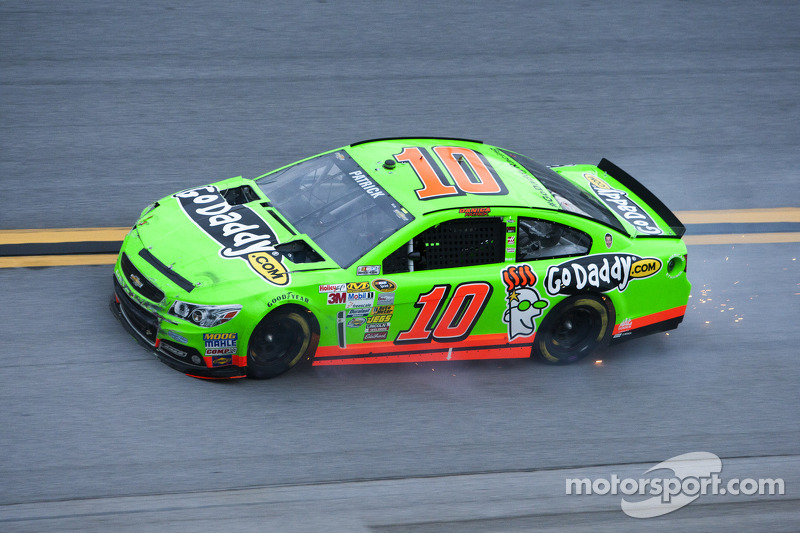Danica Patrick, Stewart-Haas Racing Chevrolet after a big crash