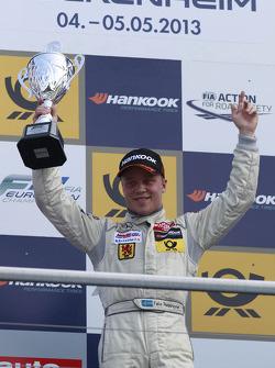 Podium: winner Felix Rosenqvist