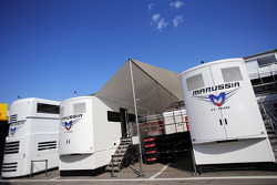 Marussia F1 Team trucks