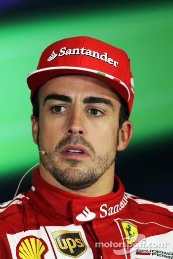 Fernando Alonso, Ferrari in the FIA Press Conference