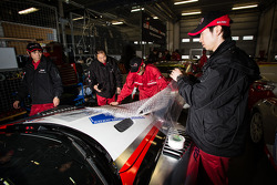 Gazoo Racing team members at work