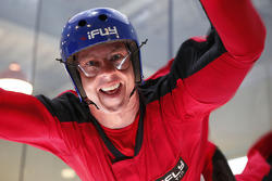 James Courtney flies at the iFly Center