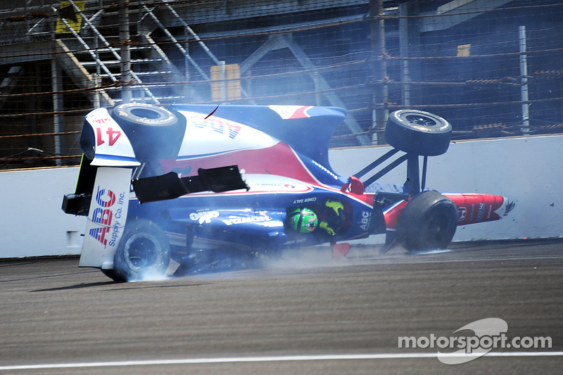 Trouble for Conor Daly, A.J. Foyt Enterprises Honda