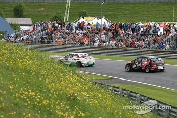 Gabriele Tarquini, Honda Civic, Honda Racing Team J.A.S.  and Robert Huff, SEAT Leon WTCC, ALL-INKL.COM Münnich Motorsport