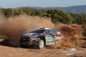 Nasser Al-Attiyah and Giovanni Bernacchini, Ford Fiesta RS WRC, Qatar M-Sport World Rally Team