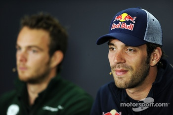Jean-Eric Vergne, Scuderia Toro Rosso in the FIA Press Conference