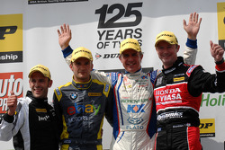 Round 11 Podium: 1st Jason Plato, 2nd Gordon Shedden, 3rd Colin Turkington, Jack Sears Trophy Winner Lea Wood