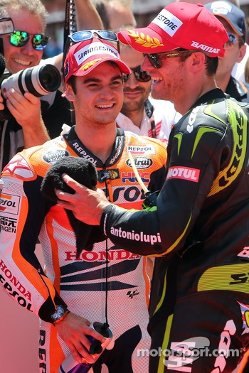 Dani Pedrosa, Repsol Honda Team and Cal Crutchlow, Monster Yamaha Tech 3