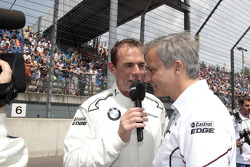 Dirk Adorf with Jens Marquardt, BMW Motorsport Director