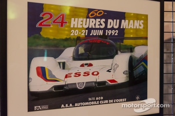 Historic 24 Hours of Le Mans race poster exhibit