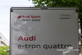Audi transponder carrying precious cargo arriving at Scrutineering