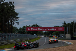 Cloudy sunset at Le Mans