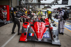 Pit stop for #46 Thiriet by TDS Racing Oreca 03 Nissan: Pierre Thiriet, Maxime Martin, Ludovic Badey