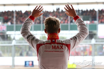 Max Chilton, Marussia F1 Team waves to the fans