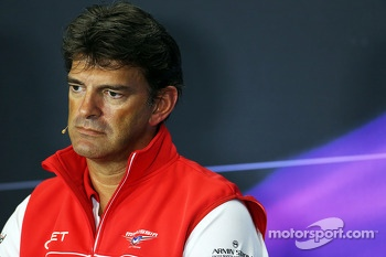 Graeme Lowdon, Marussia F1 Team Chief Executive Officer in the FIA Press Conference