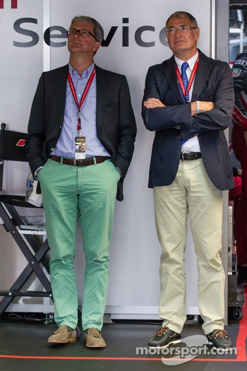 Audi AG CEO Rupert Stadler (on the left)