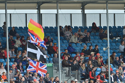 Flags in the grandstand