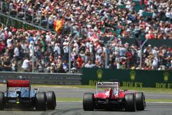 Jenson Button McLaren MP4-28 anf Fernando Alonso Ferrari F138 battle for position