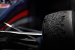 Worn Pirelli tyres in parc ferme on the Red Bull Racing RB9 of Mark Webber Red Bull Racing