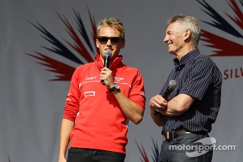 Max Chilton Marussia F1 Team and Tony Jardine at the post race concert