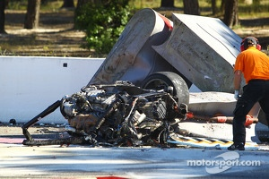 The aftermath of Andrea Mamé's fatal crash