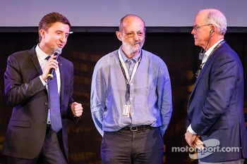Henri Pescarolo, MC Bruno Vandestick and Jim France