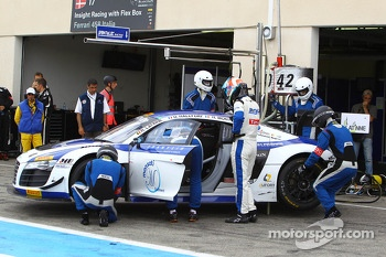 #42 Sainteloc Racing: David Hallyday, Romain Monti, Ronnie Latinne, Audi R8 LMS Ultra