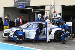 #42 Sainteloc Racing: David Hallyday, Romain Monti, Ronnie Latinne, Audi R8 LMS Ultra