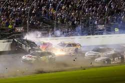 Crash for Denny Hamlin, Joe Gibbs Racing Toyota