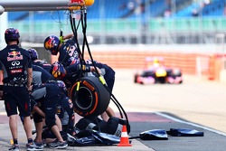 Antonio Felix da Costa, Red Bull Racing RB9 Test Driver enters the pits