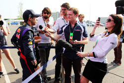 Antonio Felix da Costa, Red Bull Racing Test Driver with the media