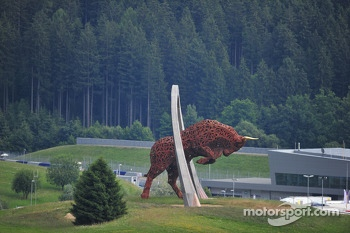 The Red Bull Ring statue