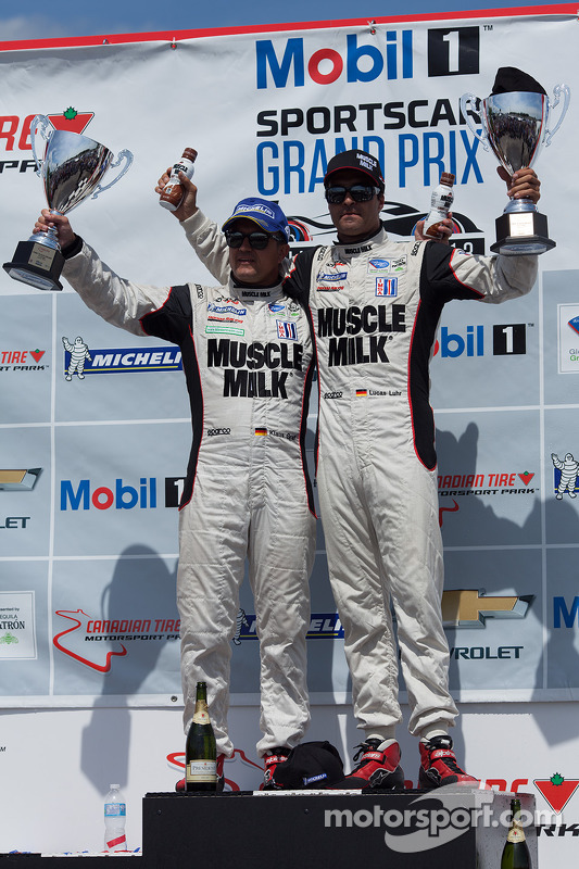 Overall and class winner -  #6 Muscle Milk Pickett Racing HPD ARX-03c: Klaus Graf, Lucas Luhr