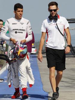 Rodolfo Gonzalez, Marussia F1 Team Reserve Driver with Sam Village, Marussia F1 Team