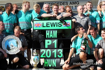 Mercedes AMG F1 celebrate race victory for Lewis Hamilton, Mercedes AMG F1