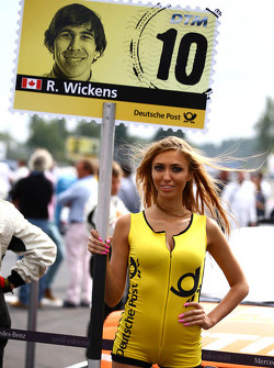 Grid girl of Robert Wickens, Mercedes AMG DTM-Team HWA DTM Mercedes AMG C-Coupe