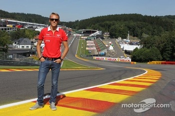 Max Chilton, Marussia F1 Team at Eau Rouge.