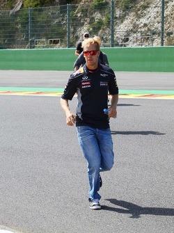 Sebastian Vettel, Red Bull Racing runs the circuit.