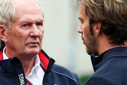 Dr Helmut Marko, Red Bull Motorsport Consultant with Jean-Eric Vergne, Scuderia Toro Rosso
