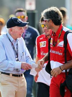 John Surtees, with Fernando Alonso, Ferrari and Edoardo Bendinelli, Personal Trainer