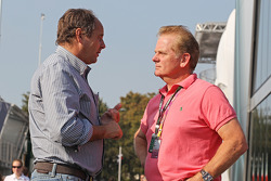 Gerhard Berger, with Jonathan Palmer