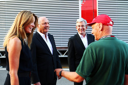 Ron Dennis, McLaren Executive Chairman, with Niki Lauda, Mercedes Non-Executive Chairman