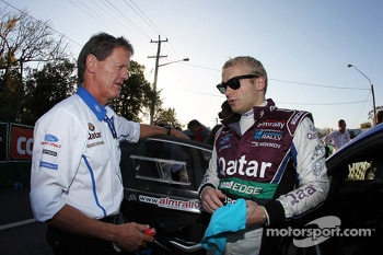 Evgeny Novikov and Malcolm Wilson, Team Principal, Ford World Rally Team