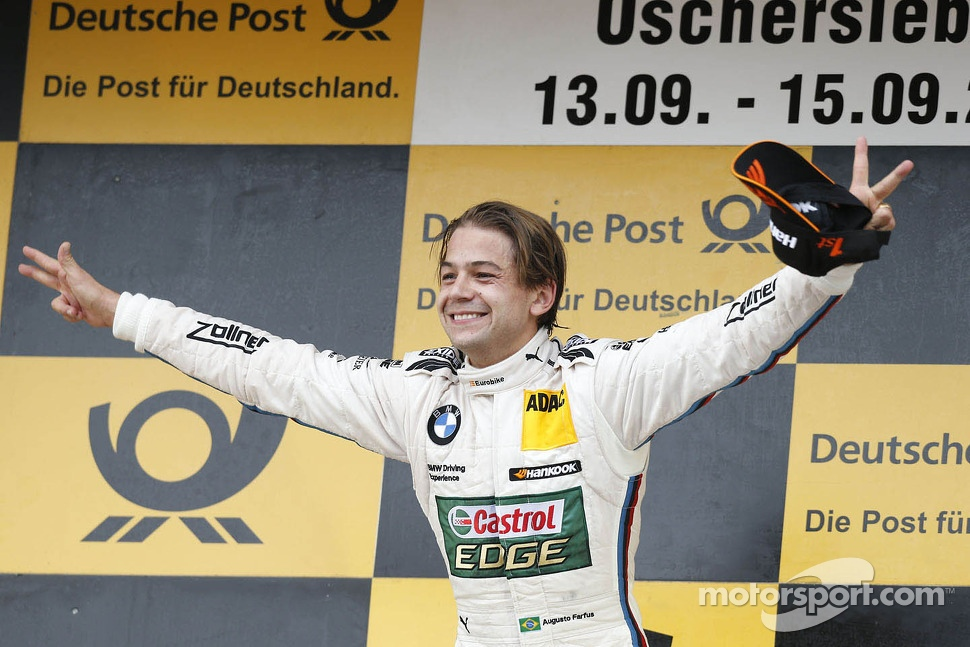 Race winner Augusto Farfus, BMW Team RBM BMW M3 DTM